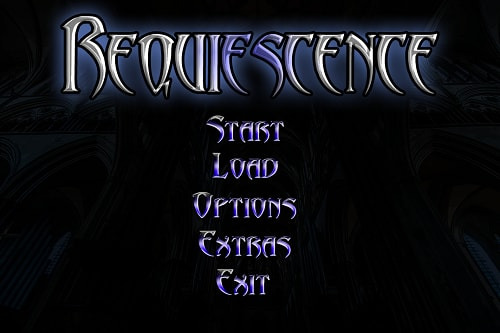 Requiescence title screen